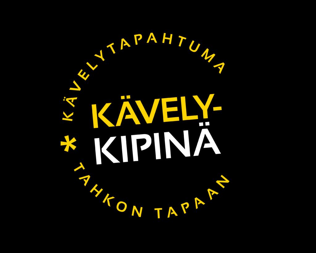 Kuvassa kävelykipinä tapahtuman logo